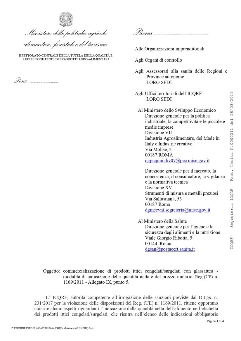 Nota ICQRF 211 del 28.3.2019 doppio peso prodotti surgelati glassati _page-0001